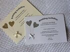 Pk 10 Personalised Wedding Day/Evening invitations/Renewal of Vows Wedding Bless