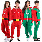 Ladies Mens Kids Elf Santa Christmas All in One Unisex One Piece Plus Size S-4XL