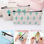 Yoocart Green Cactus School Supply Stationery Canvas Pencil Case Cosmetic Bag