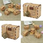 50pcs Vintage Kraft Paper Candy Box Air Mail Travel Theme Wedding Party Favors