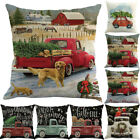 UK Christmas Sofa Car Home Waist Cushion Cover Throw Pillow Case Room Decoration