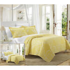 Revenna Napoli Reversible Jacquard Quilt Set King, Queen & Twin Yellow