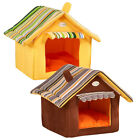 Pet Dog Cat Bed House Portable Puppy Dog Cave Nest Igloo Pad Cozy Cushion New