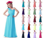 One Shoulder Chiffon Princess FlowerGirl Party Junior Wedding Bridesmaid Dress