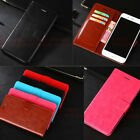 For ZTE /Sony Men' Luxury Flip Leather Wallet Photo Slots Cards Cover Case Stand