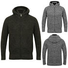 Kensington Eastside Mens Hooded Ke Ted Cardigan Cable Knit Zip Up Jumper