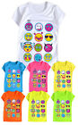 Girls Emoji Top New Kids Short Sleeved Neon Emoticon T Shirt Ages 5 - 13 Years