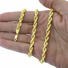 REAL 10K Yellow Gold 2MM to 7MM Diamond Cut Rope Chain Pendant Necklace 16 - 32
