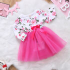 US Stock Newborn Baby Girls Kids Romper Tulle Lace Dress Outfits Set Clothes