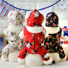 Dog Pet Fashion Costumes Warm Christmas Style Hooded Coat Clothes Jumpsuit
