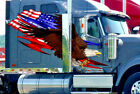 American Flag Tribal Eagle vinyl graphic decals for semi Trailers Rv 4ft and up
