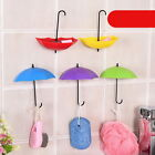 Classic 3Pcs Colorful Umbrella Key Wall Hook Hanging Hooks Organizer Holder