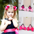 Lovely Cat Ear Hairpin Toddler Girls Hair Clips Barrettes for Kids Hot 2 Colors