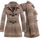 New Womens Wool Coat Ladies Duffle Winter Jacket Size 8 10 12 14 16 Brown Coats