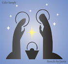 Joanie STENCIL Christmas Nativity Holy Mary Baby Jesus Joseph Bethlehem Star Art