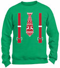 Ugly Christmas Costume Tie with Suspenders Sweater for Men for Women Sweatshirt