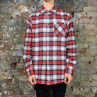 Dickies Redfield Casual Plaid Long Sleeve Shirt Brand New in Red in Size XL