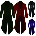 Retro Mens Swallow-tailed Cropped Coat Tuxedo Party Stage  Coat Overcoat
