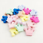 1/5Pcs Crown Silicone Beads Teether Baby Teething Chewable Pendant DIY Bracelet