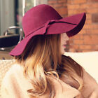 Women Fashion Classic Retro Ladies Fedora Sweet Christmas Wide Brim Top Sun Hat