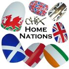 Home Nations Flags CHIX NAILS Vinyl Nail Wraps Foils RUGBY Eng Scot Wales Ire