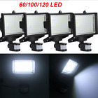 60/100/120 SMD LED Solar Powered Motion Sensor Security Light Flood Lamp Garden