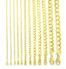 """REAL 14K Yellow Gold SOLID 1.5MM-12MM Cuban Curb Chain Link Necklace (16""""- 30"""") image"""