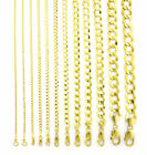 "14K Yellow Gold Solid 1.5mm-12mm Cuban Curb Chain Link Pendant Necklace 16""- 30"" image"