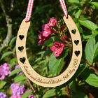 Oak Wooden Personalised Engraved Wedding Day Good Luck Horseshoe For Bride