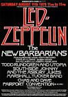 Led Zeppelin The Barbarians Knebworth Park Vintage Music Poster Reproduction