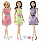 Barbie Friends Series Doll With Fashion Jewel Ring Lea Teresa Pink Purple Green