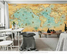 Ancient World Map Removable Wall Mural Paper Vinyl Sticker Home Office Decor
