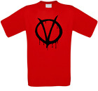 V for Vendetta V wie Vendetta Guy Fawkes Kult Movie T-Shirt alle Größen NEU