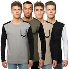 Loyalty & Faith Mens T Shirt Long Sleeve Crew Neck Raglan Pocket Branded Tee