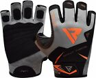 RDX Weight Lifting Gloves Gym WorkOut Training Exercise Fitness Gel Padding Grey