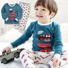"Vaenait Baby Toddler Kids Boys Clothes Sleepwear Pyjama Set ""Eco Train"" 12M-7T"