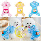 Внешний вид - Stripe Jumpsuit Pajamas Pet Bear Clothes Dog Puppy Costume Coat Cute For Apparel
