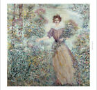 "ROBERT REID ""Spring Bouquet"" woman flowers new CANVAS! various SIZES, BRAND NEW"