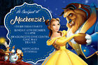 Personalised Belle Beauty and the Beast Birthday Party Invites + Envelopes BBV21