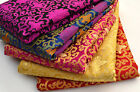 WHOLESALE!  TIBET SILK DAMASK JACQUARD BROCADE FABRIC: HOLY LOTUS DORJE CROSS
