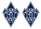 2 Stickers autocollants losange Scania Vabis camion truck decals  Ref: scania040