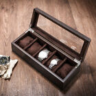 Fraxinus Ash Wood Watch Display Organizer Box,5 Slots Wooden Case For Watches