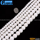 """White Natural Coral Gemstone Round Beads For Jewelry Making Free Shipping 15"""""""