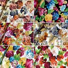 Pride Of Chelsea Large Floral Flowers 100% Cotton Fabric 145cm Wide