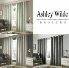 Ashley Wilde Monaco Blackout Woven Lined Ready Made Eyelet Top Curtains Pair