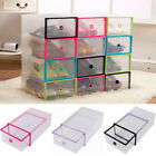 1 3 5pcs Foldable Plastic Drawer Case Boots Shoe Storage Stackable Box Organizer