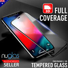 For Apple iPhone X GENUINE NUGLAS 3D FULL Cover Tempered Glass Screen Protector