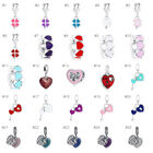 European Charms Silver Beads Flower Dangle Pendant Fit 925 Bracelets Chain Gifts