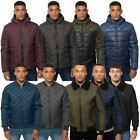 Kangol Mens Zip Up Winter Padded Jacket Bubble Hooded Outdoor Snow Quilted Coat