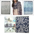 Something Special Womens Vintage Lurex Fabric Shawl Ladies Patterned Scarf Wrap